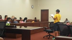 Attorney Zion addresses the jury