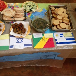 Falafel, empanadas, Congolese spinach, and alfajores were only some of the new foods we tried!