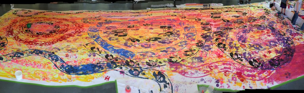 A panorama of the full fifty foot mural - click to see the full image.