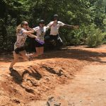 Jumping for joy at Providence Canyon State Park